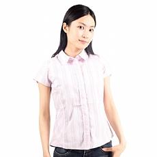 Coolmax短袖條紋襯衫 (女)