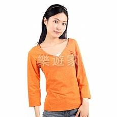 Coolmax V領七分袖衫 (女)