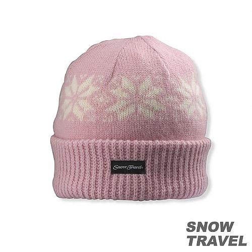 3M防風透氣保暖羊毛帽(雪花摺邊)