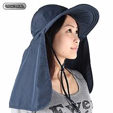 抗UV透氣護頸遮陽圓盤帽