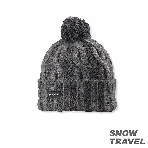 圓球防風保暖羊毛帽