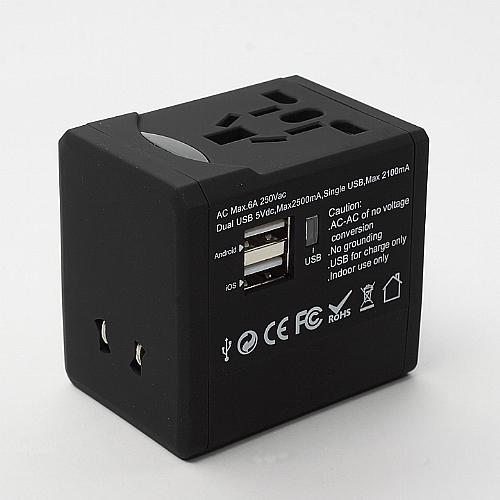 萬用轉換插頭 2.5A (USBx2)
