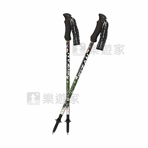 超輕三節式健行登山杖(2入)