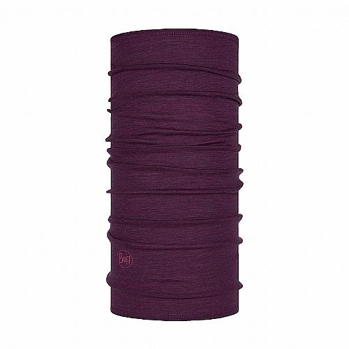 葡萄紫 美麗諾羊毛頭巾-舒適